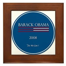 Cute 2008 michelle and obama Framed Tile