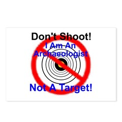 I Am A Archaeologist Not A Target Postcards (Packa