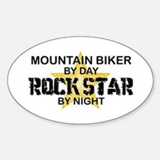 Mountain Biker RockStar Oval Decal