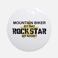 Mountain Biker RockStar Ornament (Round)