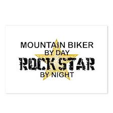 Mountain Biker RockStar Postcards (Package of 8)