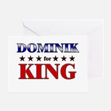DOMINIK for king Greeting Card