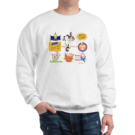 Happy Purim Collage Sweatshirt