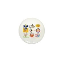Happy Purim Collage Mini Button (10 pack)