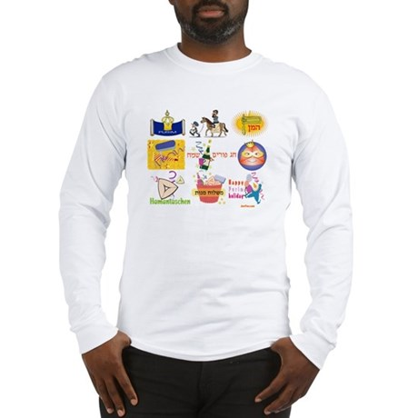 Happy Purim Collage Long Sleeve T-Shirt