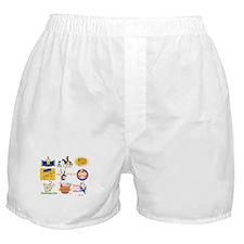 Happy Purim Collage Boxer Shorts