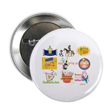 "Happy Purim Collage 2.25"" Button"
