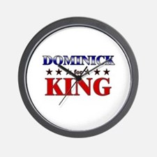 DOMINICK for king Wall Clock