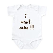 I Want Cake Infant Bodysuit
