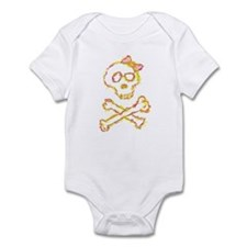 Artsy Girl Skull Infant Bodysuit
