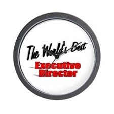 """"""" The World's Best Executive Director"""" Wall Clock"""