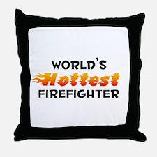 World's Hottest Firef.. (B) Throw Pillow