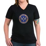 NOPD Task Force Women's V-Neck Dark T-Shirt