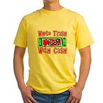 White Trash With Cash Yellow T-Shirt