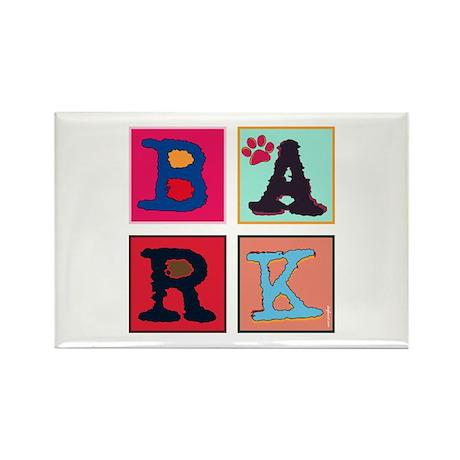 Warhol-Inspired Bark Rectangle Magnet (10 pack)