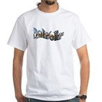 DETROIT (FANCY LETTERS OF SKYLINE White T-Shirt