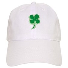 IRISH SHAMROCK/4-LEAF CLOVER Baseball Cap