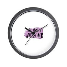 My Mom is Awesome Purple Wall Clock