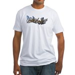 DETROIT COLORUL LETTERING Fitted T-Shirt