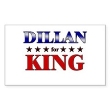 DILLAN for king Rectangle Decal
