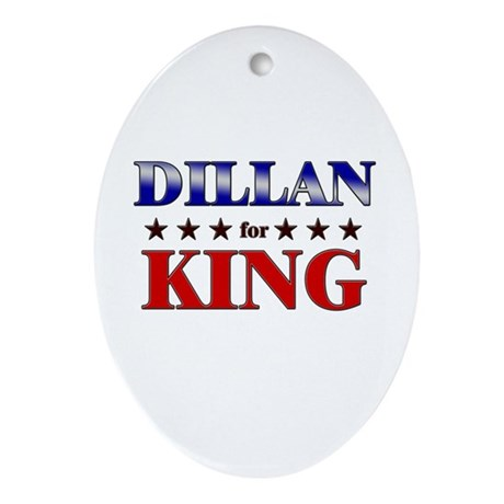 DILLAN for king Oval Ornament