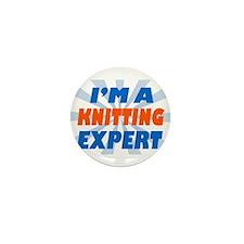 Unique Knitting expert Mini Button