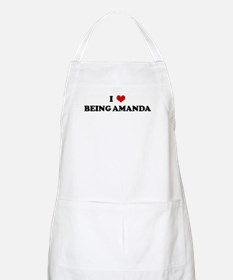 I Love BEING AMANDA BBQ Apron