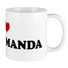 I Love BEING AMANDA Small Mug