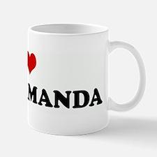 I Love BEING AMANDA Small Small Mug