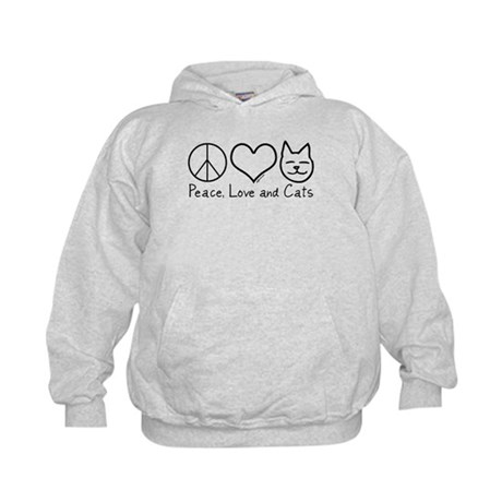 Peace, Love, and Cats! Kids Hoodie
