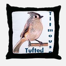 The Tufted Titmouse Throw Pillow