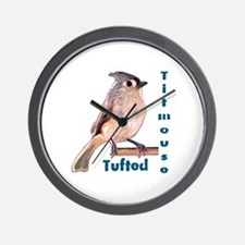 The Tufted Titmouse Wall Clock
