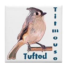 The Tufted Titmouse Tile Coaster