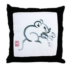 Baby Mouse with Corn Throw Pillow