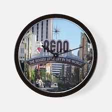 Reno Biggest Little City Wall Clock