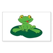Froggy Rectangle Decal