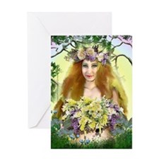 Spring Maiden Greeting Card