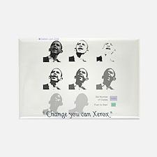Barack-Xerox Rectangle Magnet