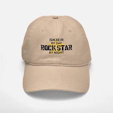 Skier RockStar by Night Baseball Baseball Cap