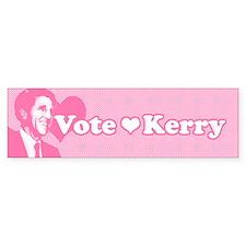 John Kerry Hearthrob Bumper Bumper Sticker