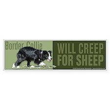 Border Collie Will Creep for Sheep Car Car Sticker