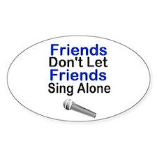 I Love Karaoke! Oval Decal