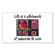 Life is A Patchwork - Quilt Rectangle Stickers