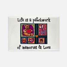 Life is A Patchwork - Quilt Rectangle Magnet