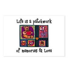 Life is A Patchwork - Quilt Postcards (Package of