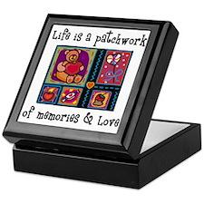 Life is A Patchwork - Quilt Keepsake Box