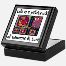 Life is A Patchwork - Quilt Keepsake Box