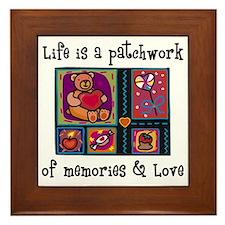 Life is A Patchwork - Quilt Framed Tile