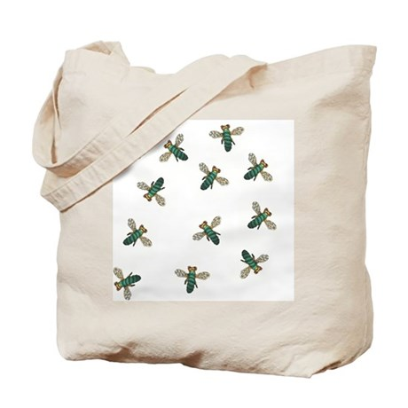 Green Bee Tote Bag