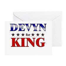 DEVYN for king Greeting Card